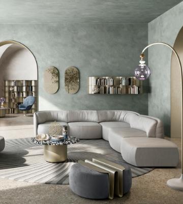 Natuzzi Deep Sofa by Nika Zupanc